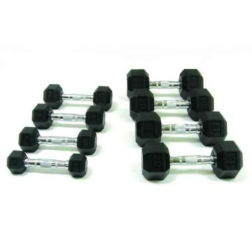 Dumbells - Rubber Hex